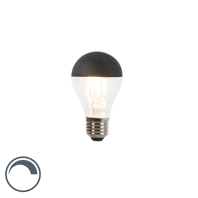 Żarówka lustrzana LED E27 A60 czarna 350lm 2700K ściemnialna