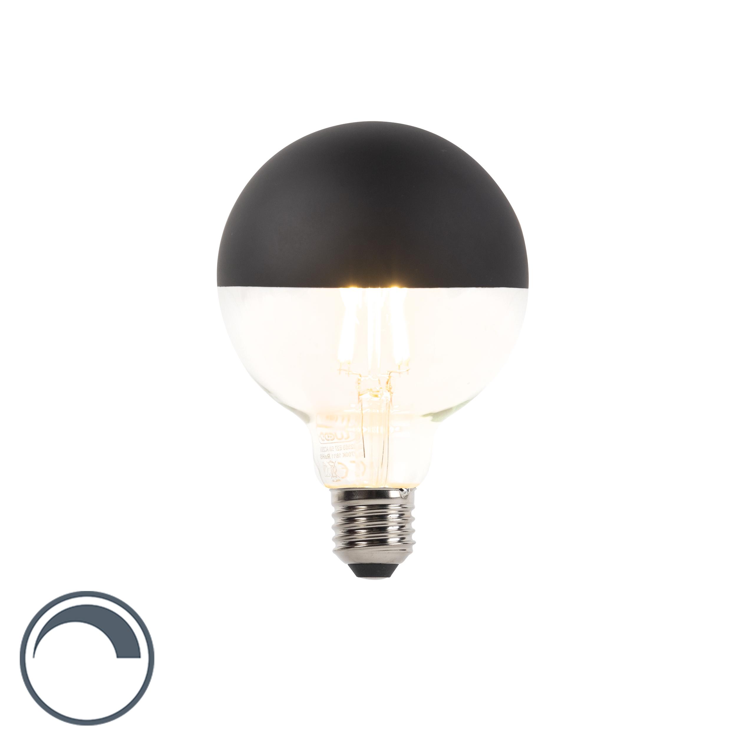 Żarówka lustrzana LED E27 G95 czarna 400lm 2700K ściemnialna