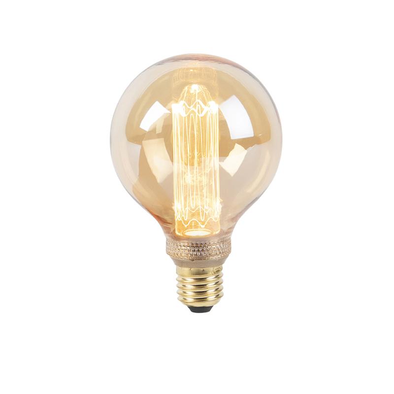 LED lamp G95 E27 5W 1800K amber 3-staps dimbaar