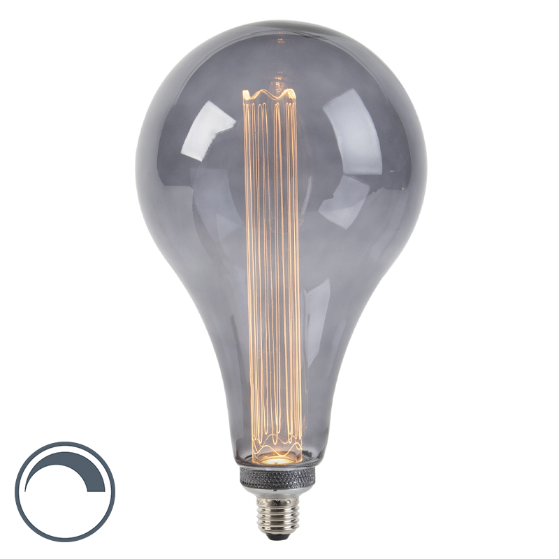 LED lamp S165 E27 3,5W 2000K smoke dimbaar