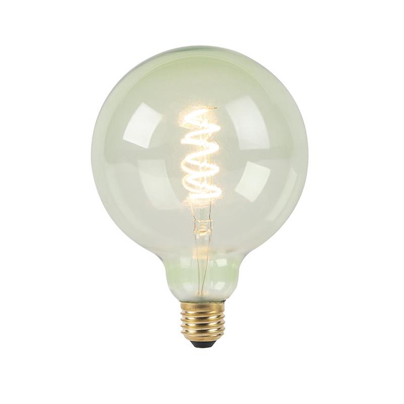 E27 stmívatelná LED spirálová žárovka G125 zelená 200 lm 2100K