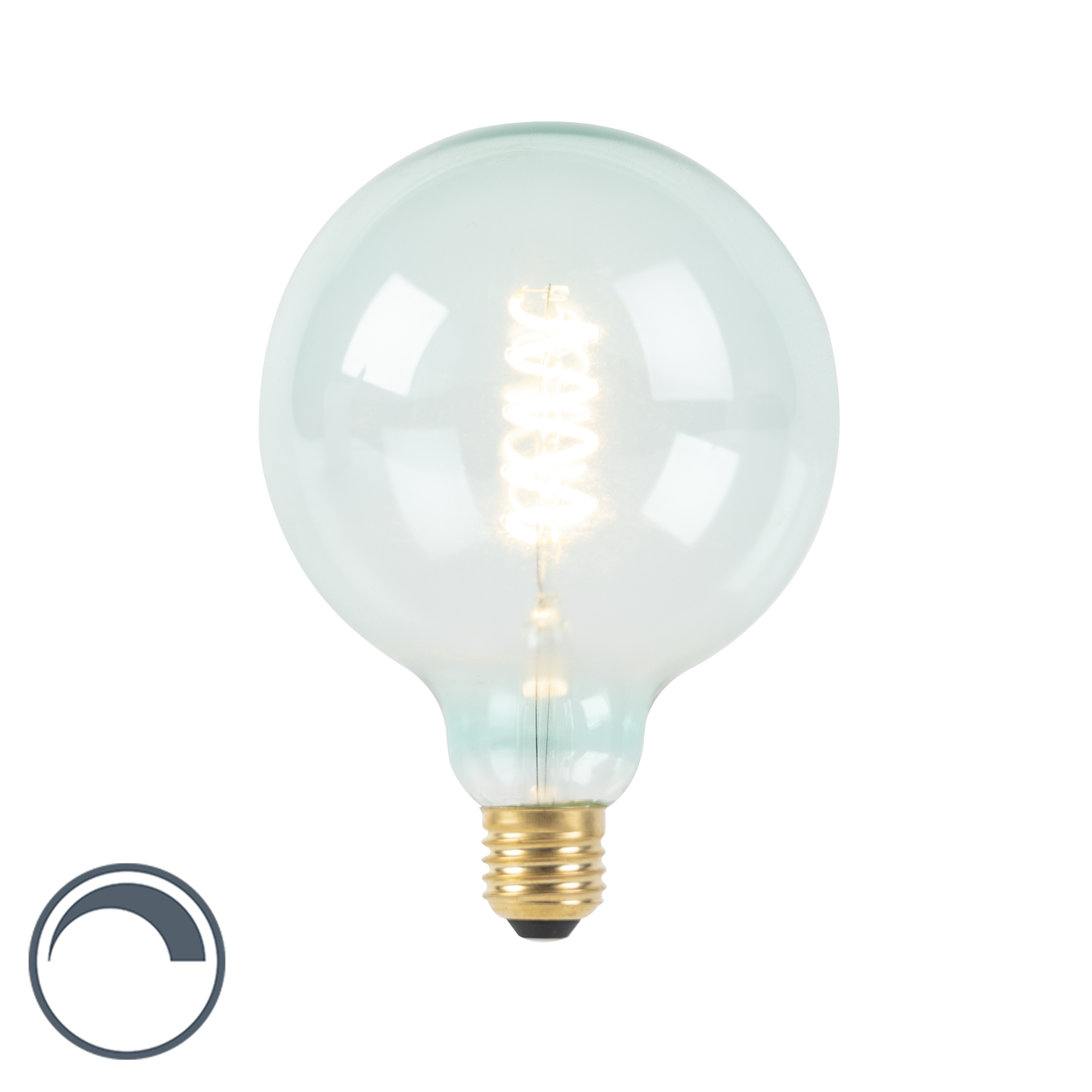Żarówka LED E27 G125 spira filament niebieska 200lm 2100K ściemnialna