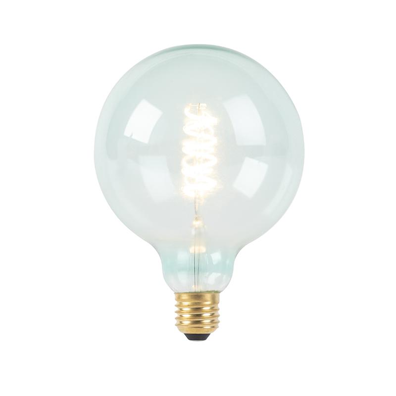 E27 stmívatelná LED spirálová žárovka G125 modrá 200 lm 2100K