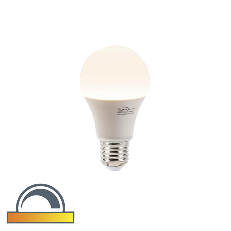 Żarówka LED E27 A60 7W 470 lm 2000-2700K ściemnialna zmiana temperatury