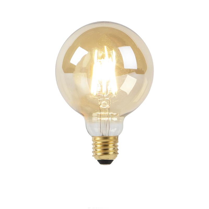E27 dim to warm LED goldline filament lamp G95 8W 2000-2600K