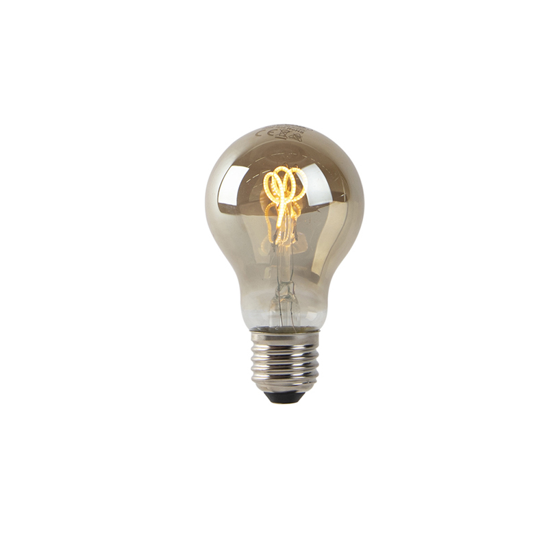 Set van 3 E27 LED spiraal filament lampen smoke 80 lm 2200K