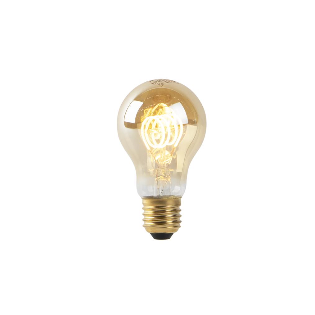 Set van 3 E27 dimbare LED lampen goud 4W 200 lm 2200K