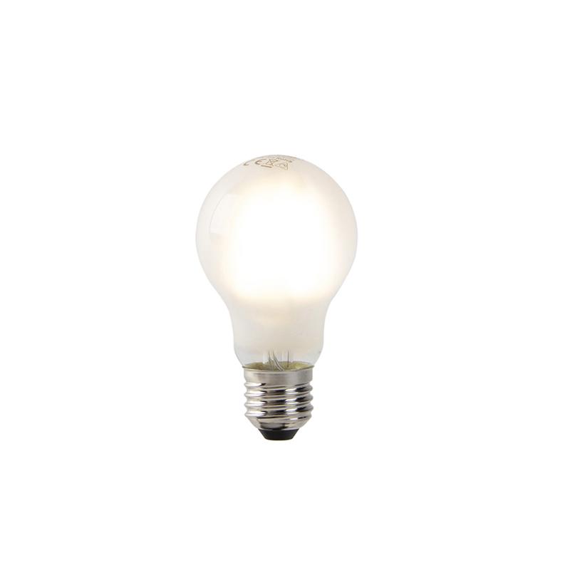 Set van 5 dimbare E27 LED filament lampen mat glas 320 lm 2700K