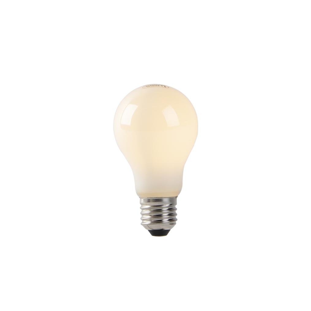 Set van 5 E27 LED filament lampen opaal glas 1W 70 lm 2200K