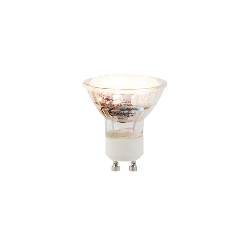 Set van 5 GU10 LED lampen 3W 250 lm 2200K