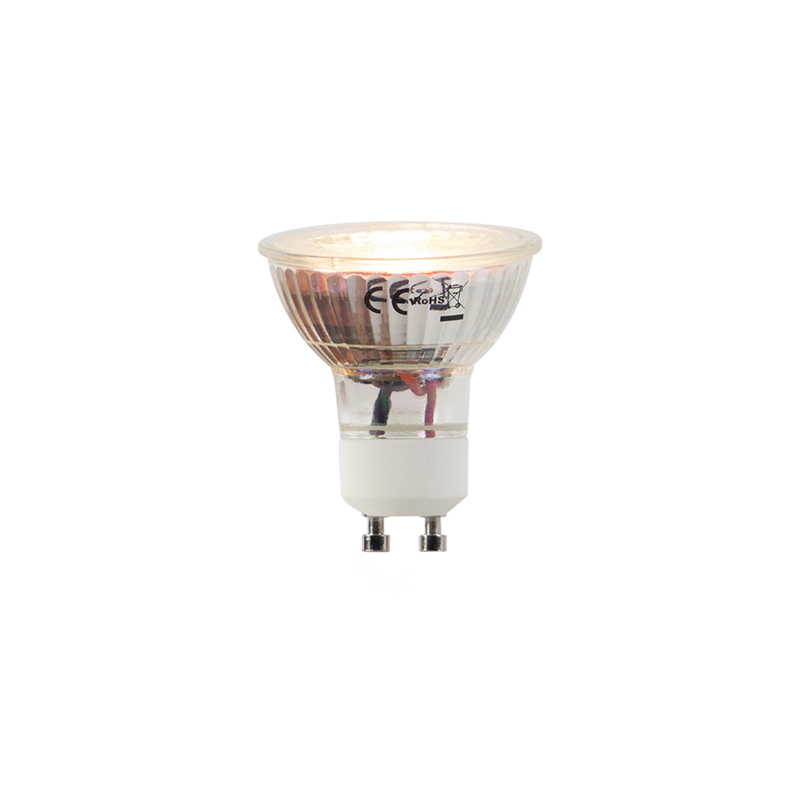 Set van 5 LED lampen GU10 5W 2000-2700K Dim to warm