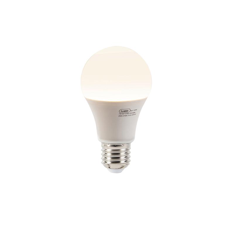 Set van 5 LED lampen A60 E27 7W 2000-2700K dim to warm