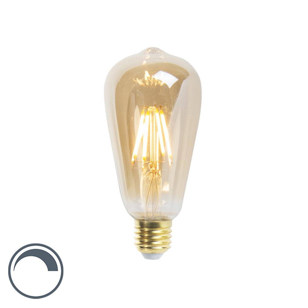Żarówka LED E27 ST64 5W 360lm 2200K złota ściemnialna