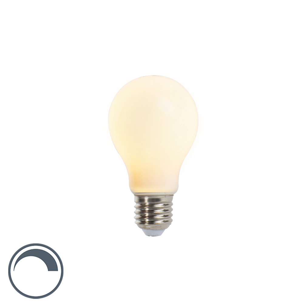 Żarówka LED E27 A60 5W 410lm 2350K mleczna ściemnialna