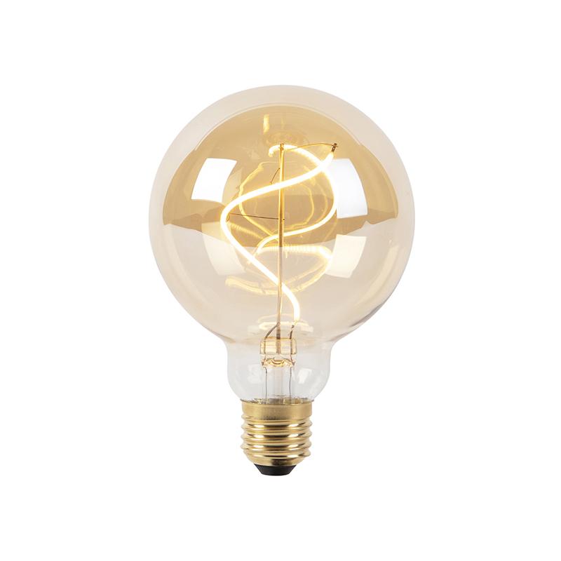 E27 stmívatelná LED spirálová žárovka G95 goldline 200lm 2100K