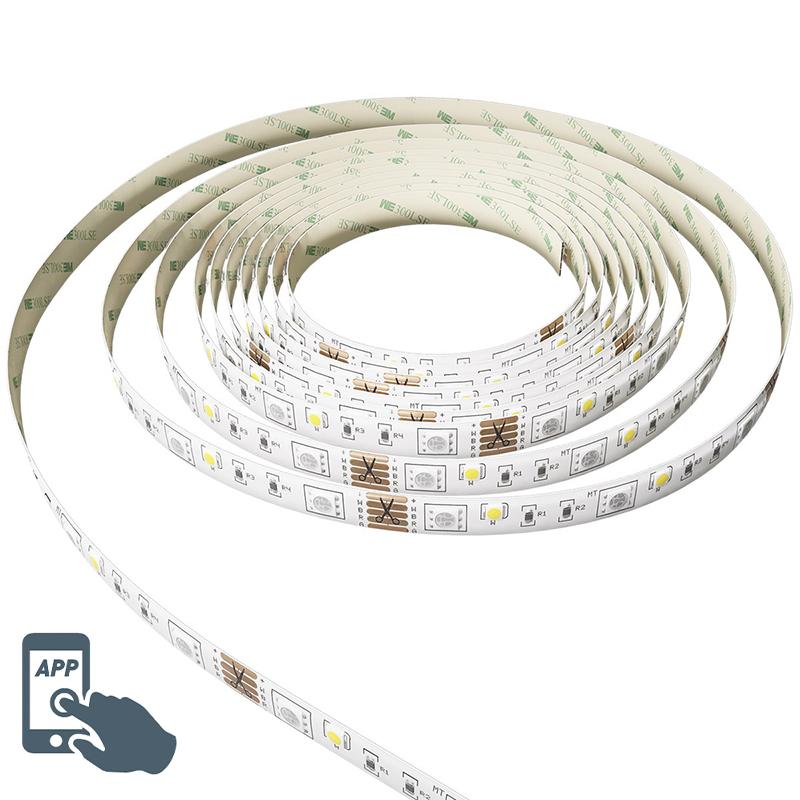 Smart LED strip RGBW 5mtr. 24W incl. driver