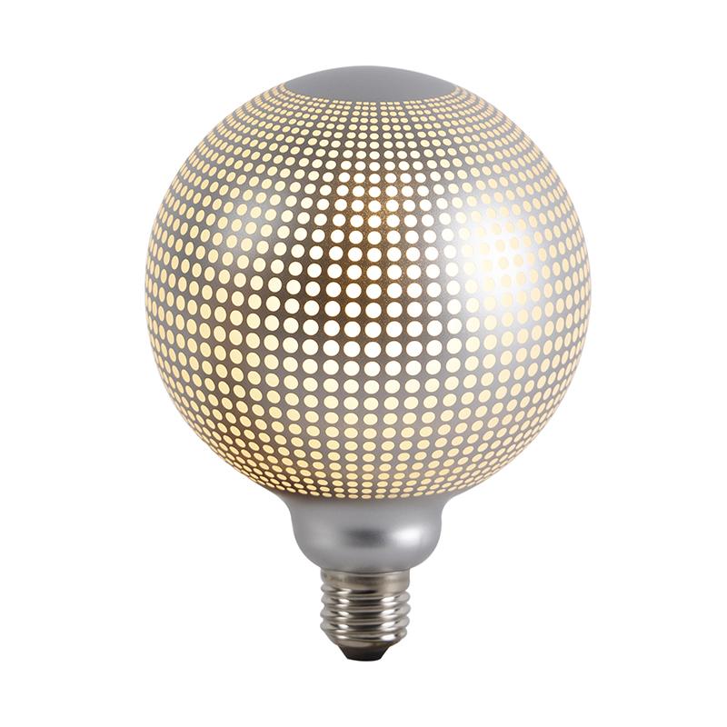 Set van 3 E27 dimbare LED globe lampen DECO 4W 240 lm 2700K