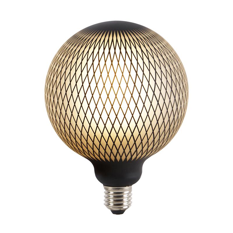 Set van 3 E27 dimbare LED globe lampen DECO 4W 180 lm 2700K