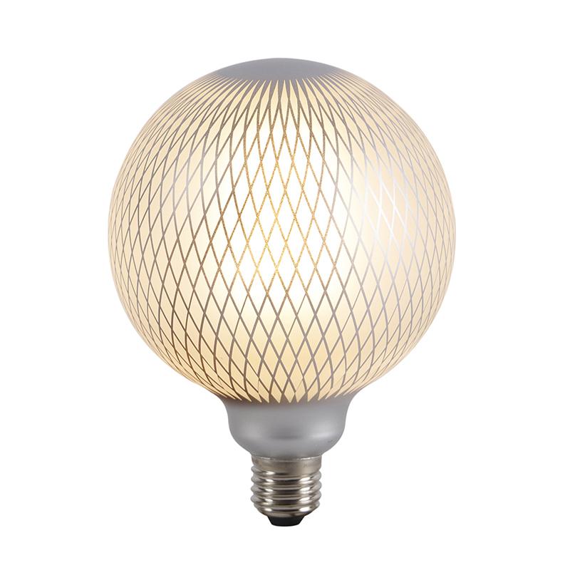 Set van 3 E27 dimbare LED globe lampen DECO 4W 320 lm 2700K
