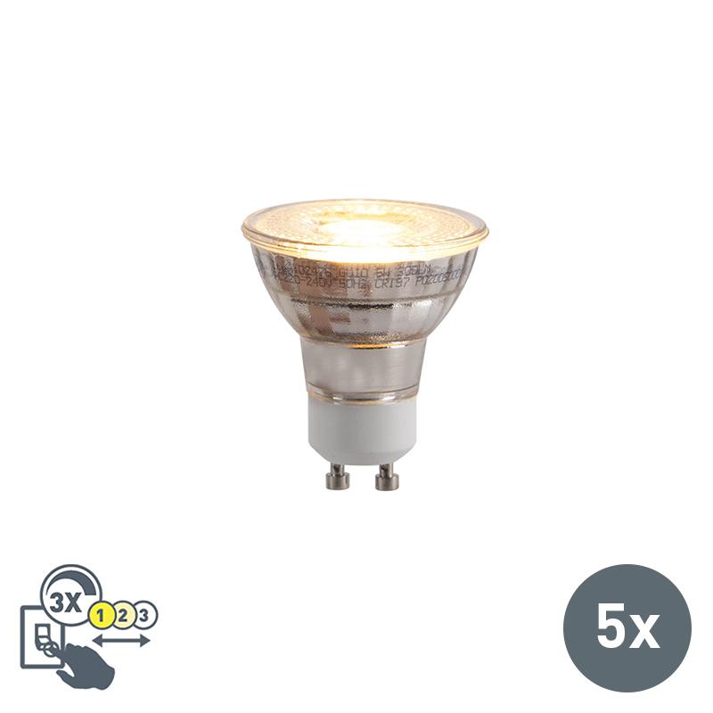 Zestaw 5 x żarówka LED GU10 5W ściemnialna 2000-2700K