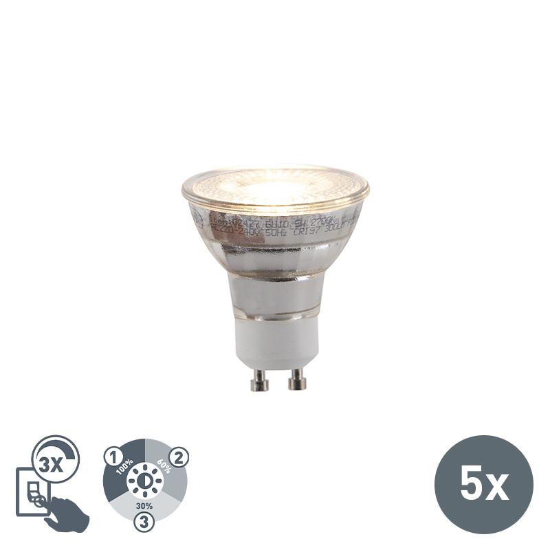 Zestaw 5 x żarówka LED GU10 5W 300lm 3-stopniowe ściemnianie