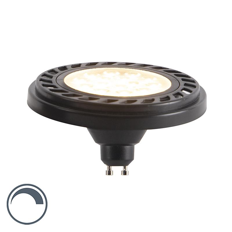 GU10 dimbare LED AR111 zwart 9W 900 lm 2700K