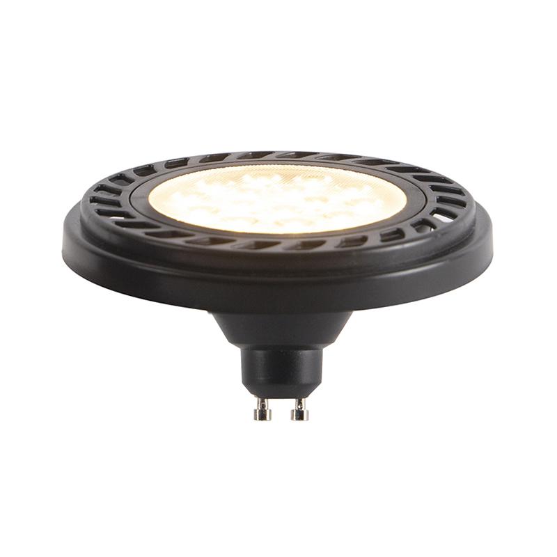 GU10 dimbare LED AR111 zwart 9W 800 lm 2700K