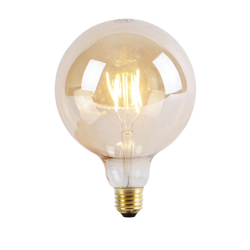 E27 3-staps dimbare LED lamp G125 Goldline 5W 2200K