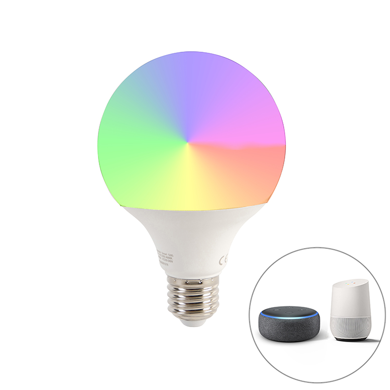 Smart E27 dimbare LED lamp G95 11W 900 lm 2200-4000K RGB