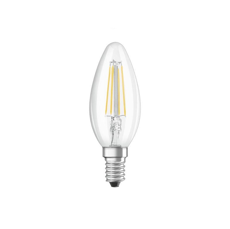 E14 stmievateľná LED žiarovka so žiarovkami B35 číra 5W 470 lm 2700K