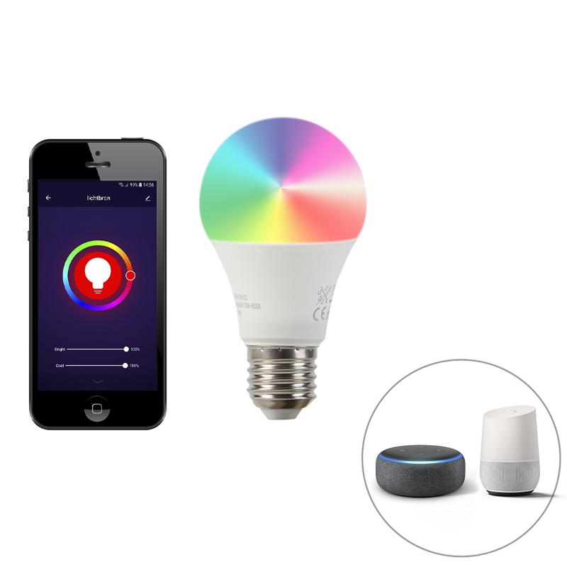 Smart set van 3 E27 dimbare LED lamp A60 9W 800 lm 2200-4000K