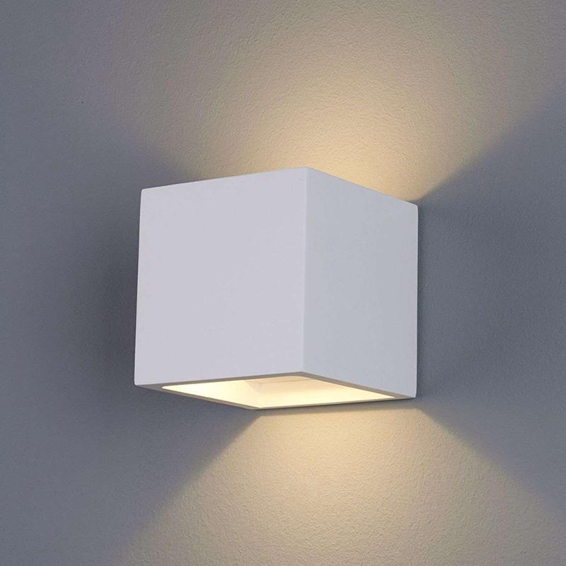 Moderne wandlamp wit gips incl. LED - Marita