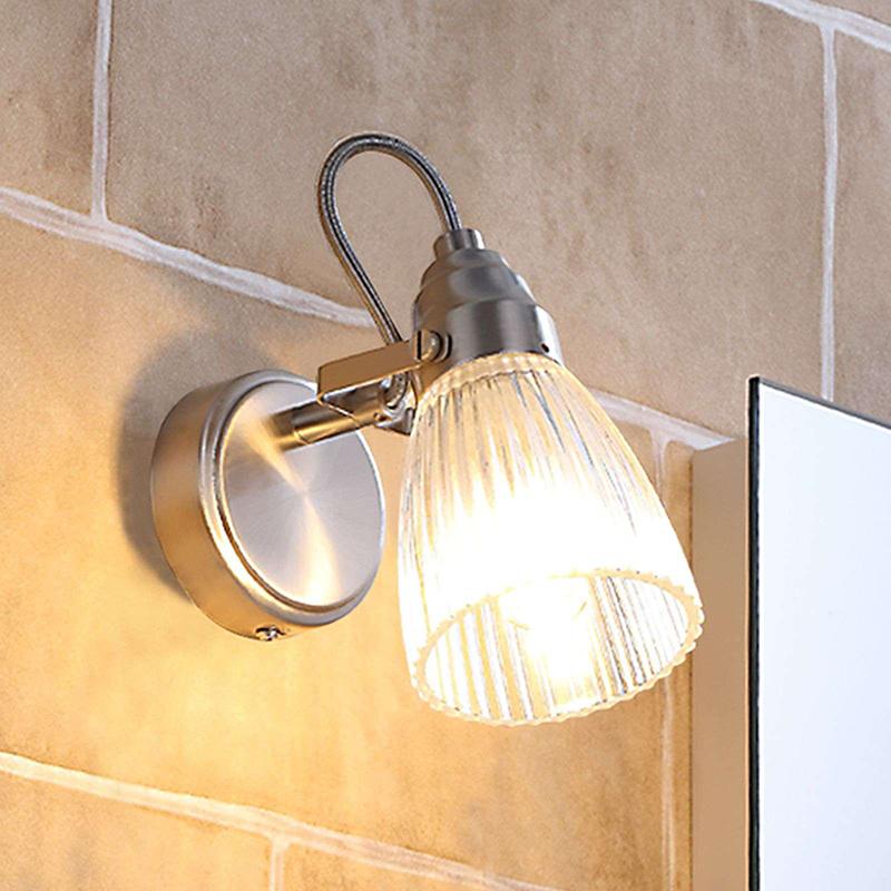 Landelijke wandlamp staal incl. G9 verstelbaar IP44 - Kara