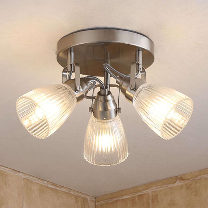 Landelijke plafondlamp staal incl. G9 3-lichts IP44 - Kara