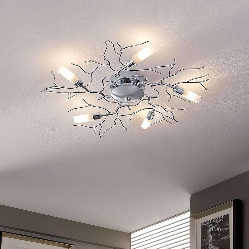 Design plafondlamp chroom incl. G9 - Felicity