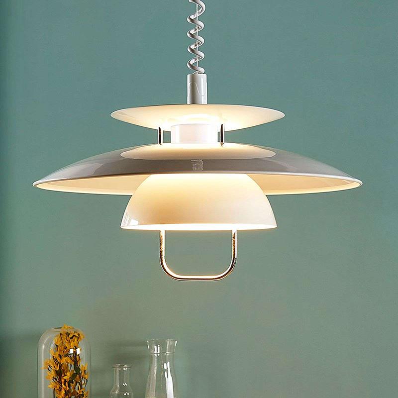 Scandinavische hanglamp wit incl. E27 LED - Nadija