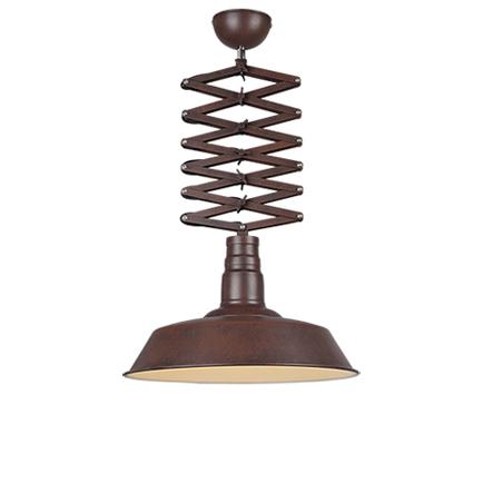 Industri�le hanglamp roest met verstelbare schaararm - Mancis