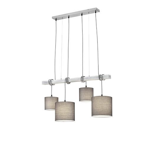 Wiejska lampa wisząca stal 4-lampa - Ard