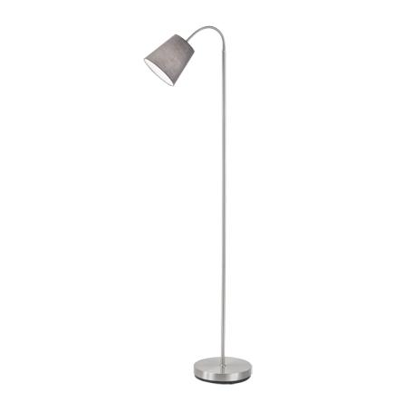 Design vloerlamp staal met grijze kap - Noukie