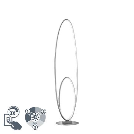 Design vloerlamp staal incl. LED 3 staps dimbaar - Ocho