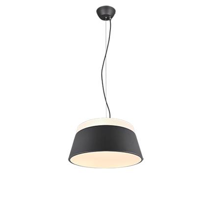 Designerska lampa wisząca szara - Esra