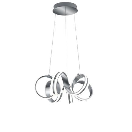 Designerska lampa wisząca stal 3-stopniowe ściemnianie LED - Filum