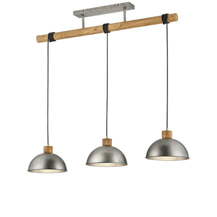 Przemysłowa lampa wisząca stal 3-źródła światła - Arti