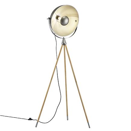 Przemysłowa lampa podłogowa stal trójnóg - Arti