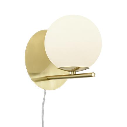 Art deco wandlamp goud met opaal glas - Flore