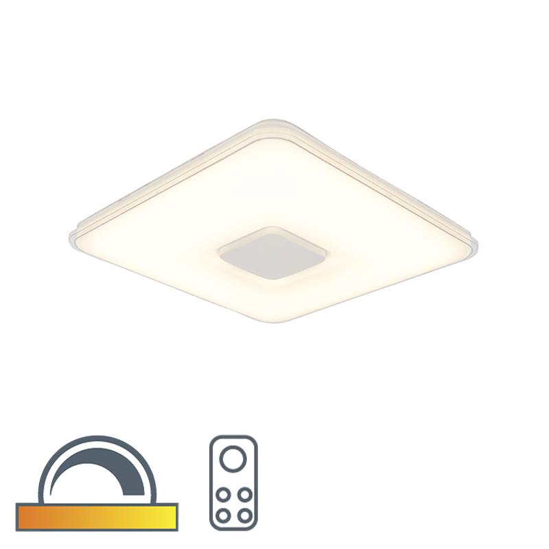 Plafonnière vierkant incl. LED dim to warm afstandbediening - Seoul