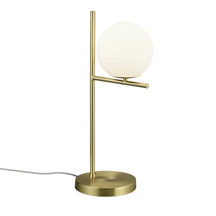 Lampa stołowa art deco złota mleczne szkło - Flore