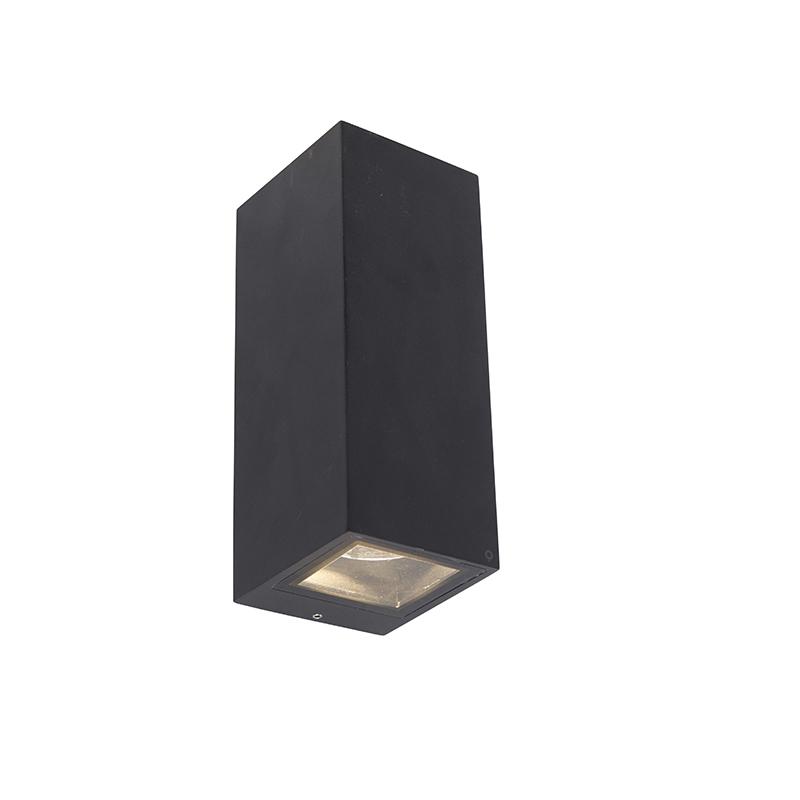 Moderne wandlamp zwart GU10 AR70 IP54 - Baleno II
