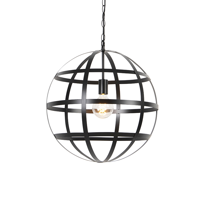 Industri�le hanglamp zwart - Boula