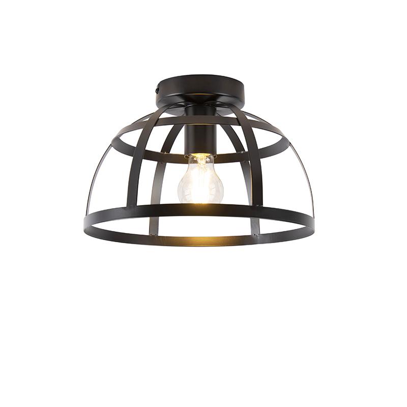 Industriële plafondlamp zwart - Boula